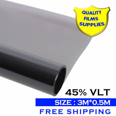 3m x 0.5m Window Tint Light Gray 45% VLT Roll Car House Glass Solar Films New