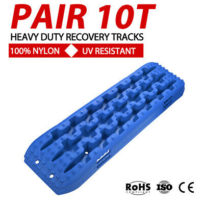 10T Recovery Tracks Off Road 4x4 4WD Car Snow Mud Sand Track 10 Ton Pair BLUE