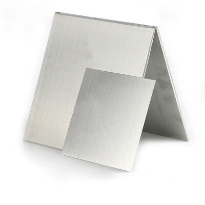 Aluminum Sheet Plate 0.3mm/0.5mm/1mm/2mm Thick Guillotine Cut Choose Size