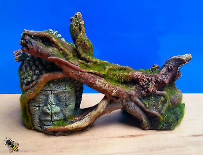 Aquarium Ornament Rock Log Moss Ruin Head Large Fish Tank Bowl Decoration New