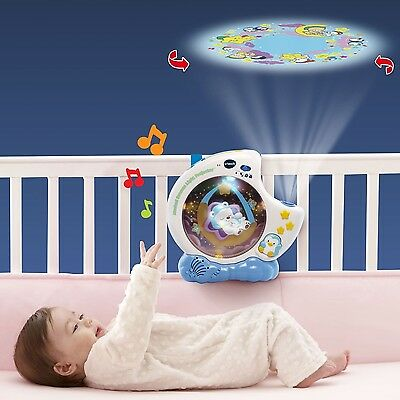 Crib Mobile Projector Baby Good Night Light Sleeping Songs With Swinging Bear