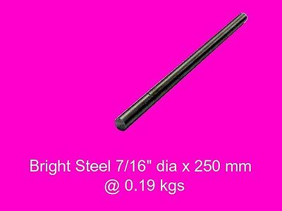 "Bright Steel 7/16"" dia x 250 mm ( 1214FM )-Lengths-Lathe-Mill-Steam"