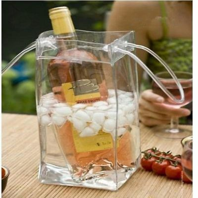 Drink Ice Bag Bottle Cooler Chiller Foldable Carrier Wine Beer Champagne Bucket