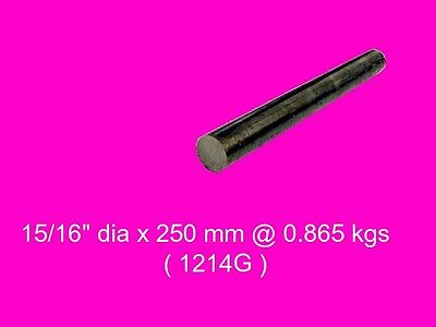 "Steel 15/16"" dia x 250 mm-Lengths-Lathe-Mill-Steam-OG"