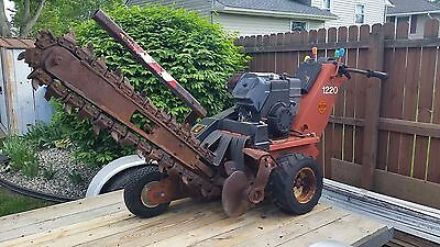 """ditch witch 1220 walk behind trencher, kohler command engine, 36"""" digging"""