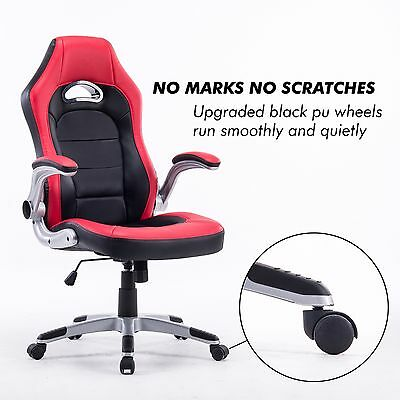 Executive Swivel PC Gaming Racing Desk Chair PU Leather High-Back Office Chair