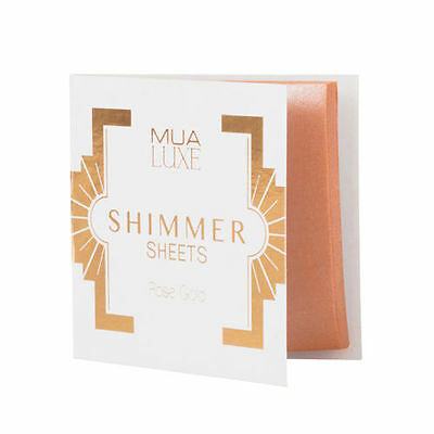 MUA Luxe Shimmer Sheets Highlighter Illuminator White or Rose Gold Paper Sheets