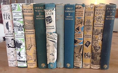 Complete Set Of Swallows And Amazons Novels By Arthur Ransome - One 1st Edition
