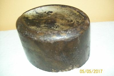 "Vintage dated 1928 Hat mold beautiful wood,signed Diamond 8 1/4"" X 5"" X6 1/2"""