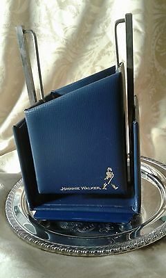 ORIGINAL Johnnie Walker Blue Label Leather-Encased Metal Pour Cradle -FREE SHIP!