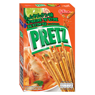 Thai Glico Pretz Bread Stick Tom Yum Kung Flavour Snack Biscuit Stick