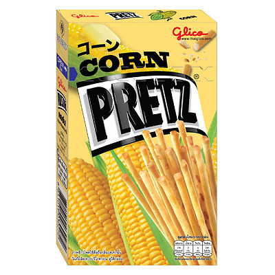 Thai Glico Pretz Bread Stick Corn Flavour Snack Biscuit Stick