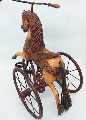Estate ~ Big Size Riding Horse Childs Tricycle Riding Toy BEAUTIFUL show or use