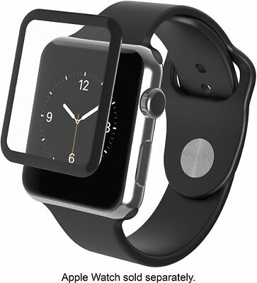 ZAGG - InvisibleShield Glass Luxe for Apple Watch (Series 2) 38mm - W38BGS-BK0