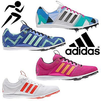 adidas All Round Star Junior Track & Field Trainers Kids Spiked Running Shoes