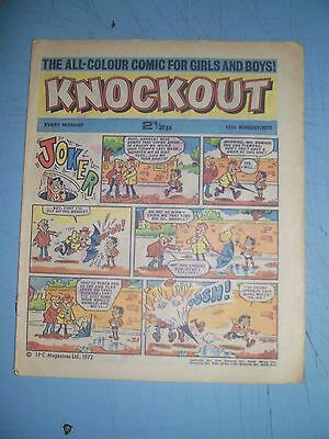 Knockout issue dated August 12 1972