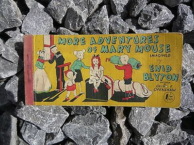 Vintage Enid Blyton strip book: More adventures of Mary Mouse.