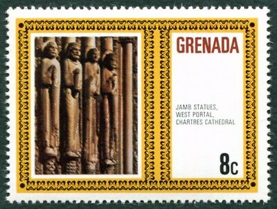 GRENADA 1980 8c SG1074 MNH FG Famous Works of Art Jamb Statues Chartres #W37
