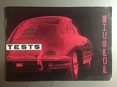 "1961 Porsche 356-B ""Tests"" MM 185 Showroom Sales Brochure RARE!! Awesome L@@K"