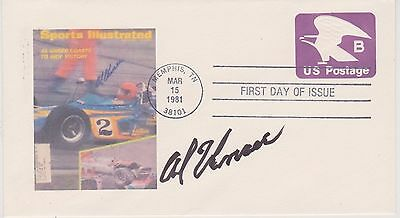 Signed Al Unser  Fdc Autographed First Day Cover Indy 500