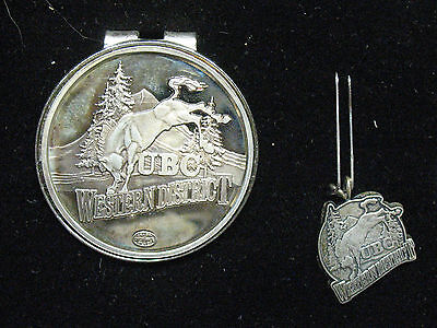 United Brotherhood Of Carpenters Western  District  Sterling Money Clip  / Pin