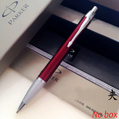 Parker IM Ballpoint Pen Silver Clip Business 0.5mm Nib Red Ball point Pen 5