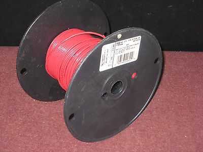 Hookup - Layout wire: 18 AWG, Red, Stranded. 600V rated. about 225 Ft. on reel