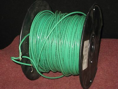Hookup - Layout wire: 14 AWG, Green, Stranded. 600V rated. about 400 Ft. on reel
