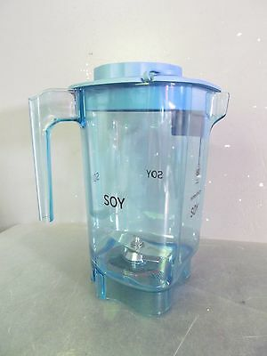 """NEW Vitamix 48oz BLUE Advance Container & RS Blade w/ Splash Lid,  """"SOY"""""""