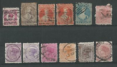 Klassik-Briefmarken-Lot - NEUSEELAND / NEW ZEALAND - Chalon Heads u.a. - TOP !!!