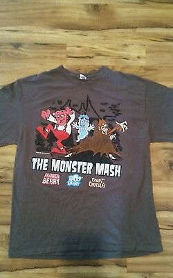 vintage Franken Berry Boo Berry Count Chocula t shirt adult size XL