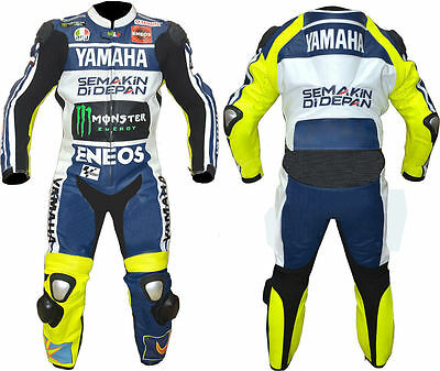 Yamaha Motorbike Racing Leather Suit For Men/ladies 1 Piece 2 Piece Available