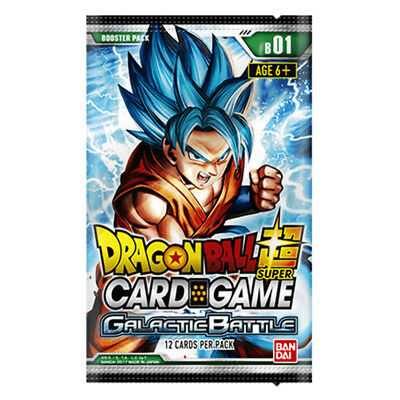 Dragon Ball Z Super Card Game Series 1 Galactic Battle Booster Pack NEW