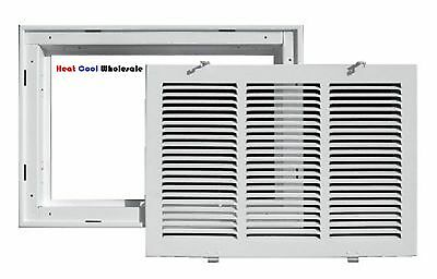 "TruAire 20"" x 14"" White Return Air Filter Grille 190RF"