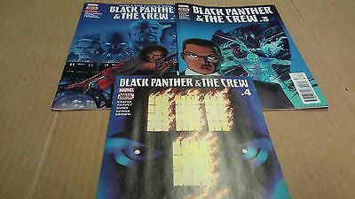 4 Black Panther & the Crew comics lot issues 1 & 3 - 5 1st Print Nice Run VF/NM+