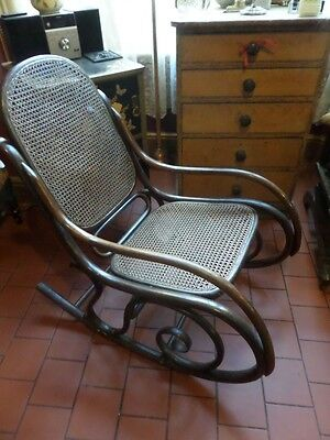 Antique English Edwardian Rocking Chair