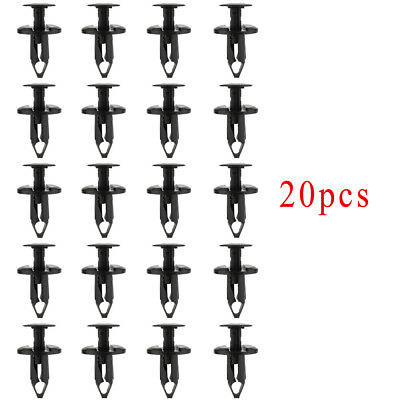 20x 8mm ATV Plastic Fender Clip For Honda TRX Foreman Kawasaki Suzuki Polaris