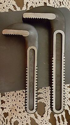 New Ridgid Replacement Jaw Hook Teeth For 18 & 14 Inch Pipe Wrenches nos