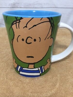 Gibson Peanuts Gang Charlie Brown LINUS Green Blue 15 oz. Coffee Mug Cup