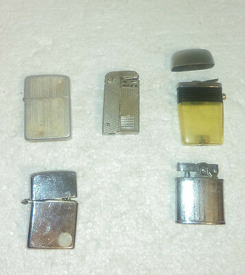 Lot Of 5 Lighters For Parts Or Repair