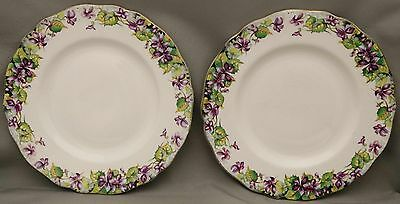 "Royal Doulton SeriesWare - Pair Plates - ""Violets""- D6400 - Bargain Priced Pair."