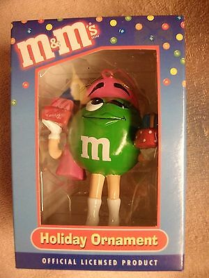 M&M's HOLIDAY ORNAMENT -- GREEN