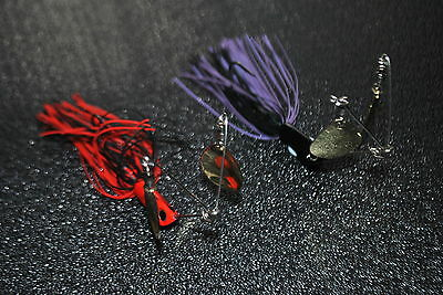 2 X Spinner Bait Twin Arm 1/2 oz Lure Cod or Yellow belly (Spinnerbait)