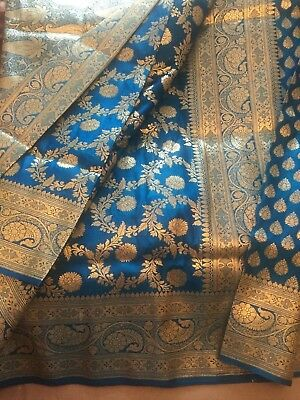 Indian Designer Banarasi Sari / Fancy Bridal/Kanchipuram/ GADWAL Silk Saree 1010