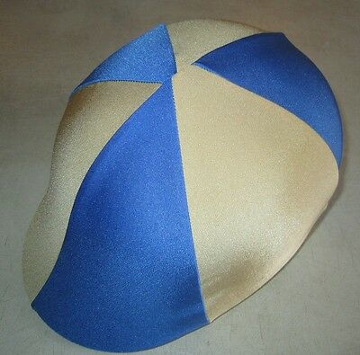 Horse Helmet Cover ALL AUSTRALIAN MADE Royal blue & Gold  Any size you need