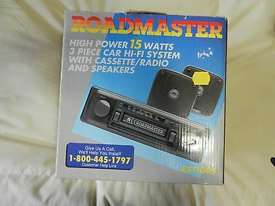 Roadmaster 3 Piece Car Stereo System - RS1100S  Cassette & Radio - Vintage (NEW)