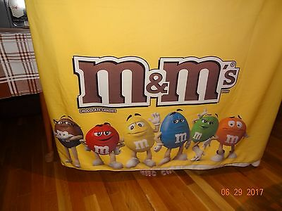 M&M's Candy Unique Yellow Cloth Banner Sheet Blanket Throw