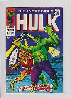 The Incredible Hulk #103 Silver Age F- (May 1968, Marvel)