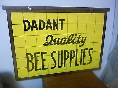Rare Vintage Double Sided Advertising Sign - Dadant Quality Bee Supplies - Nelke