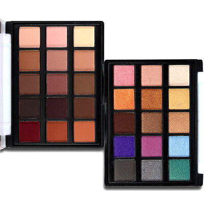 15Colors Natural Shiny Shimmer Matte Eyeshadow Palette Makeup Cosmetic Case